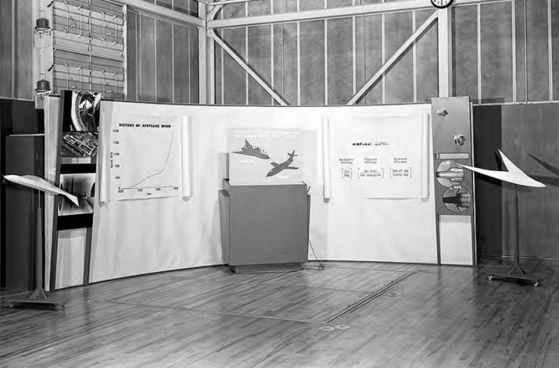 9cf44fbf63858 Display showcasing supersonic aircraft research at Ames Research Center.  Photo courtesy of NASA.